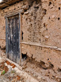 Eroded Mud Shed Wall Royalty Free Stock Image