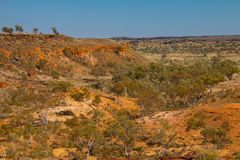 Eroded outback lanscape Royalty Free Stock Photography