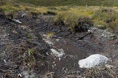 Eroded Peat Bog, Cairngorm Mountains. Scotland royalty free stock image