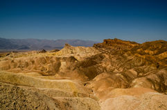 Eroded ridges in death valley national park Royalty Free Stock Photography