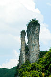 Eroded rock stacks Royalty Free Stock Image