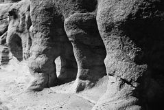 Eroded rocks. A closeup of weather-beaten rocks showing signs of severe erosion Royalty Free Stock Photos