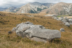 Eroded rocks at Castle Hill, New Zealand Stock Images
