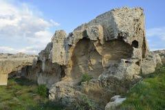 Eroded Rocks at Kato Paphos Royalty Free Stock Photos