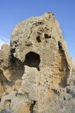 Eroded Rocks at Kato Paphos Royalty Free Stock Photo