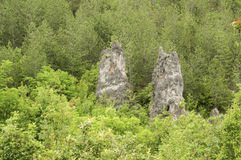 Eroded rocks in mountains Stock Image