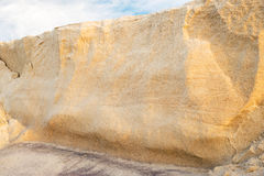 Eroded sand bank Royalty Free Stock Photo