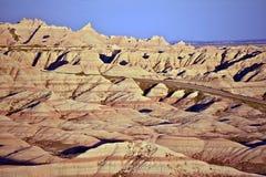 Eroded Sandstone in Badlands Stock Images