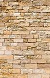 Eroded sandstone block wall Stock Photos