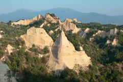 Eroded Sandstone At Melnik Stock Images
