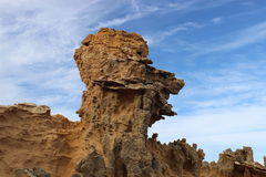 Eroded sandstone rock. On the shore of south Australia Stock Photos