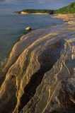 Eroded Sandstone Shoreline Stock Image