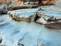 Eroded Sandstone, Sydney Harbour, Australia. Varied and intricate textured patterns on eroded Sydney sandstone, on the shores of Sydney Harbour, NSW, Australia Stock Photos
