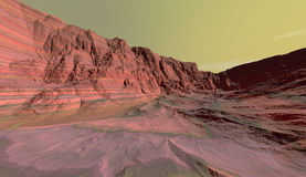 Eroded sedimentary layers on Mars Royalty Free Stock Images