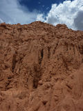 Eroded soil Stock Photo