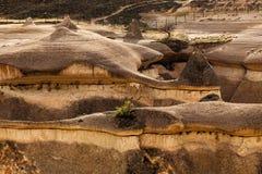 Eroded stone cliffs. Look like mushrooms near Goreme, Cappadocia, Turkey Stock Images