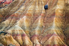Eroded strata Stock Photography