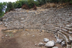 Eroded tiers of seats. In the theatre,  Phaselis,  Turkey Stock Images
