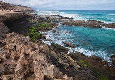 Eroded  west coast of Fuerteventura Stock Photos