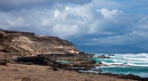 Eroded  west coast of Fuerteventura Stock Photos