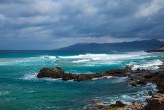 Eroded  west coast of Fuerteventura Royalty Free Stock Photography