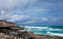 Eroded  west coast of Fuerteventura Stock Photography