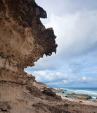 Eroded  west coast of Fuerteventura Royalty Free Stock Images