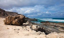 Eroded  west coast of Fuerteventura Royalty Free Stock Image