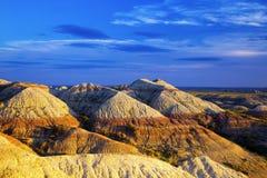Erodera texturer av Badlandsnationalparken South Dakota arkivfoto