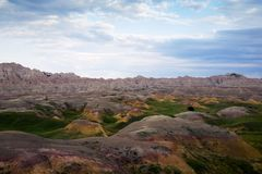 Erodera texturer av Badlandsnationalparken South Dakota royaltyfria bilder