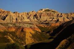 Erodera texturer av Badlandsnationalparken South Dakota royaltyfri bild