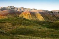 Erodera texturer av Badlandsnationalparken South Dakota royaltyfri foto