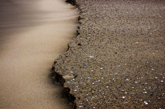 eroderad sand Royaltyfria Bilder