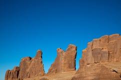 eroderad sandstenvägg Royaltyfri Foto