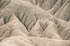 Eroderade backar av den Fortuna öknen i Spanien royaltyfri fotografi