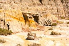 Eroderade klippor i badlandsna Royaltyfri Fotografi