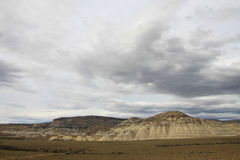 Eroderat berglandskap längs ruta 40, Patagonia, Argentina Royaltyfria Foton