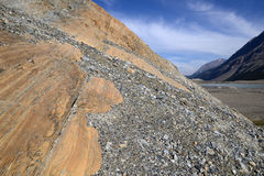 Eroderat landskap Columbia Icefield Arkivbilder