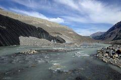 Eroderat landskap Columbia Icefield Royaltyfri Foto