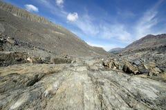 Eroderat landskap Columbia Icefield Royaltyfria Bilder