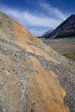 Eroderat landskap Columbia Icefield Arkivfoto