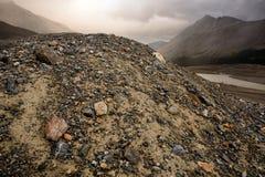 Eroderat landskap Columbia Icefield Royaltyfri Fotografi
