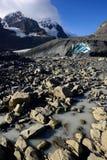 Eroderat landskap Columbia Icefield Royaltyfri Bild