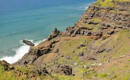 Eroding cliff a by ravine Royalty Free Stock Photography