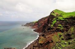 Eroding coastline on the island of Fogo Royalty Free Stock Photography