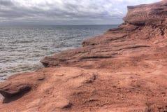 Eroding red sandstone, Prince Edward Island coastline Royalty Free Stock Photography