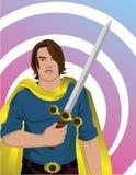 Eroe con la spada Immagini Stock Libere da Diritti