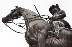 Eroe del soldato su a cavallo Fotografia Stock Libera da Diritti