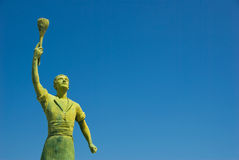 Eroe della statua immagini stock
