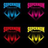 Eroe eccellente Logo Supehero Letters della mamma Fotografia Stock